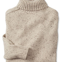 Wool/Cashmere Donegal Turtleneck Sweater