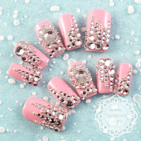 Japanese 3D Nail Art Press On Nails False Nails  by tanacollection