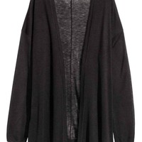 Fine-knit cardigan - Black - Ladies | H&M GB