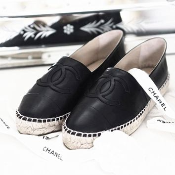 Summer11 : Chanel Fashion Espadrilles For Women Leisure Comfortable Shoes Full black