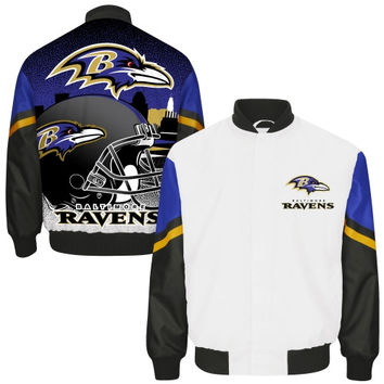 Baltimore Ravens City Scape Sublimated Jacket – White