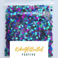 Holographic Glitter Mix Dots - Pacific