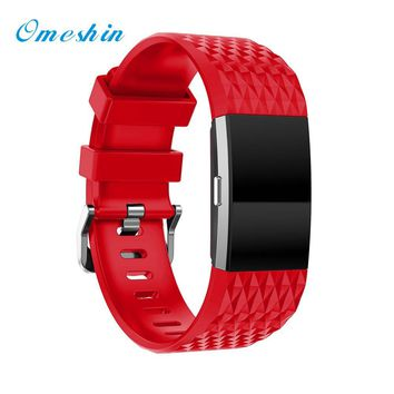 OMESHIN For Fitbit Charge 2 new Fashion Sports Silicone Bracelet Strap Band