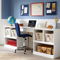 Cameron Work Station Desk & 2 Base Set | Pottery Barn Kids