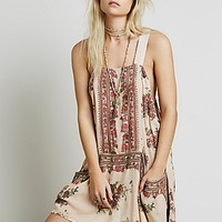 Free People Womens Sleeveless Border Print Tunic