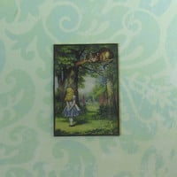 Dollhouse Miniature Small Alice in Wonderland Art Print Panel