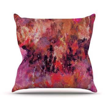 "Nikki Strange ""Indian City"" Throw Pillow"