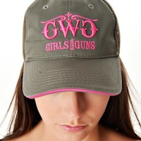 Classic Trucker Hat - Olive   Girls with Guns Clothing