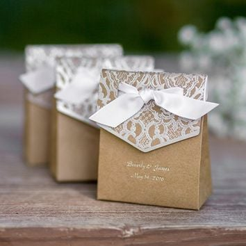 Personalized Vintage Favor Boxes, Personalized Vintage Tent Boxes, Vintage Tent Favor Boxes