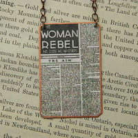 The Woman Rebel Statement Necklace in Copper