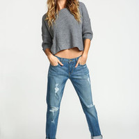 Classic Wash Distressed Boyfriend Jeans - LoveCulture