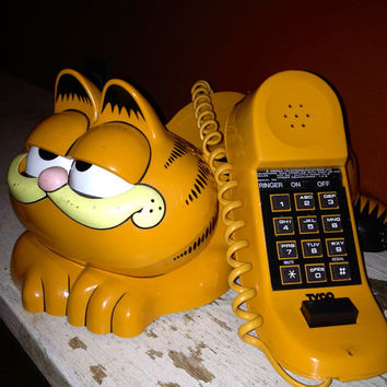1981 Vintage Tyco GARFIELD Telephone