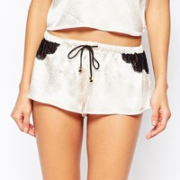 River Island Lace Detail Pyjama Short