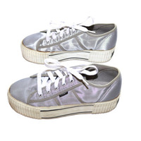 Platform Sneakers Silver Sneakers Holographic Shoes 90s Platform Shoes Candies Platform Shoes Candies Sneakers