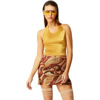 Day Tripper Copper Mini Skirt