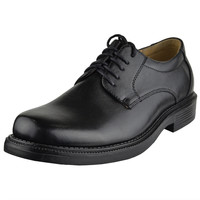 Mens Dress Shoes Upper Tonal Stitch Lace Up Oxford Black SZ