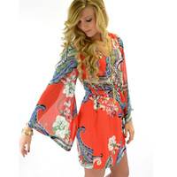 Into The Abyss Floral Paisley Dress