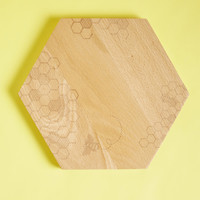Creature Comfort Food Wooden Cheese Board in Bees