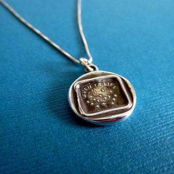 Stars in the sky Wax Seal Necklace - Such is life - 172