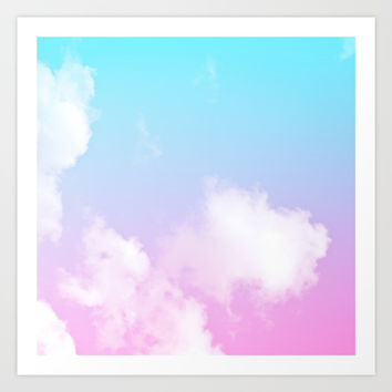 Pink Summer Clouds Art Print by Trevor May