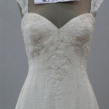 Tiffany Wedding Gown by bellinabridal on Etsy