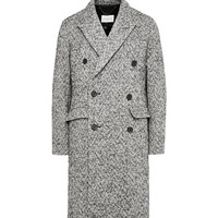Sandro - Double-Breasted Herringbone Wool-Blend Overcoat | MR PORTER
