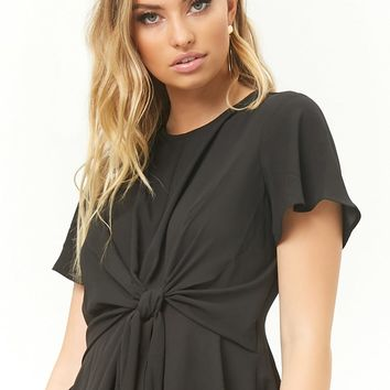 Tie-Front Chiffon Top
