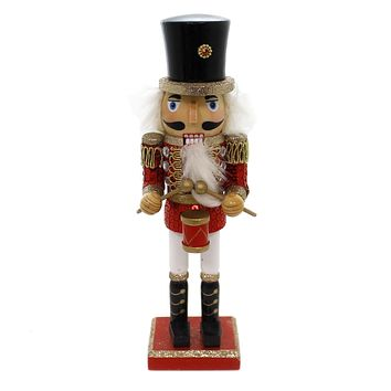 Christmas WOODEN SOLDIER NUTCRACKER Wood Sword Drum Musket C5871 Red