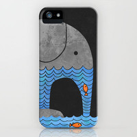 Thirsty Elephant  iPhone Case by Terry Fan | Society6 #elephant #thirsty #iphone #case #society6 #cute