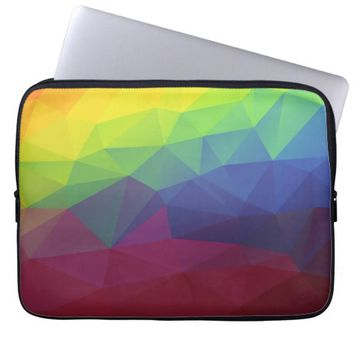 Colorful Abstract Geometric Pattern Computer Sleeves