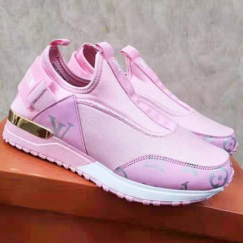 Louis Vuitton LV Newest Popular Women Casual Shoes Sneakers Pink