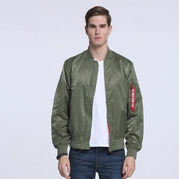 Ma1 Thin Style Army Green Military motorcycle Ma-1 Flight Jacket Pilot Air Force Men /women Bomber Jacket