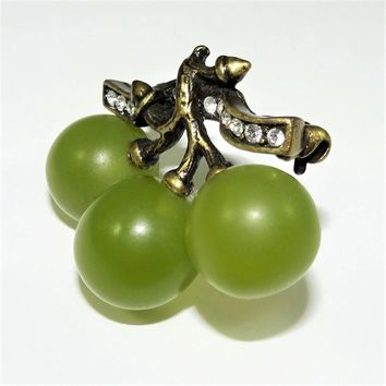Vintage Joan Rivers Grapes Brooch