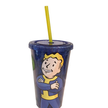 Fallout Vault Boy Vault-Tec Design Large Carnival Cup With Straw 334756b19b14