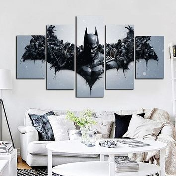 Deadpool Dead pool Taco 5Panel HD Print DC  Movie  Batman Oil Painting on Canvas Wall Art Modern Modular Wall Picture for Children'S Room AT_70_6
