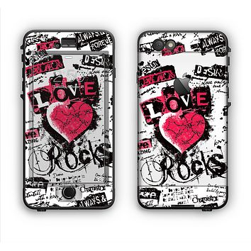 The Grunge Love Rocks Apple iPhone 6 LifeProof Nuud Case Skin Set