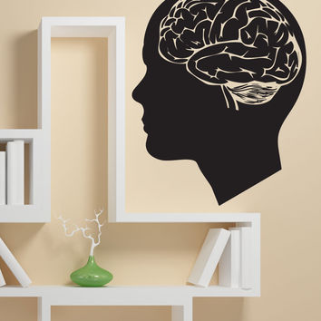 Vinyl Wall Decal Sticker Human Brain #1201