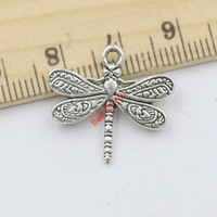 20pcs Tibetan Silver Plated Dragonfly Charms Pendants for Jewelry Making DIY Handmade Craft 20x21mm D205