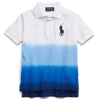 Boy's Ralph Lauren Ombre Cotton Mesh Polo