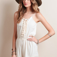 In The Groove Lace-Up Romper