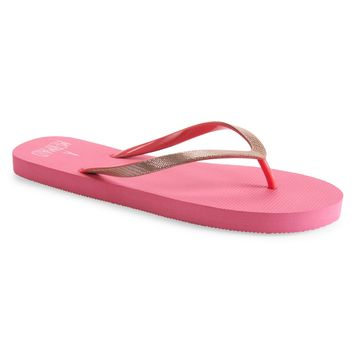 Aeropostale Womens Secret Mermaid Flip-Flops - Orange,