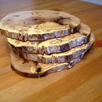 Live edge wooden coasters