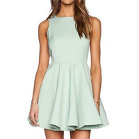 Mint Green Skater Dress