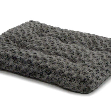 "MidWest Quiet Time Gray Ombre Swirl Dog Bed 17"" x 11"""
