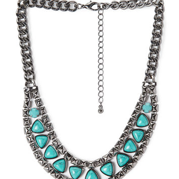 Bold & Beautiful Faux Stone Necklace