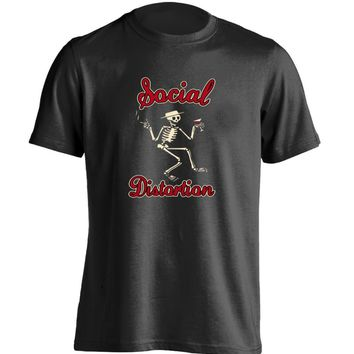SHIRT SOCIAL DISTORTION Skull Mens Punk Rock Band T Shirt Red/Blk/Wht/Gry (S-XXXL)