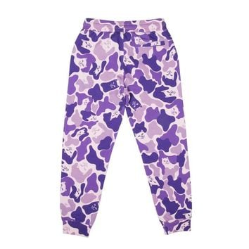 Nermal Camo Sweat Pants (Purple Camo) | RIPNDIP