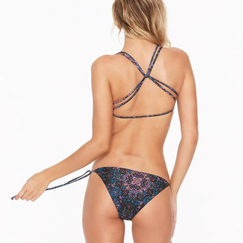 L*Space Julietta Lily Bottom Classic Tie Side | Julietta Print / Black