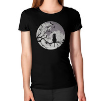 The cat and the moon Women's T-Shirt