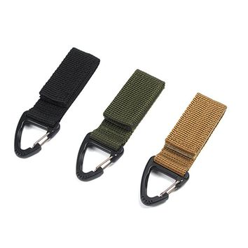 Hot! Outdoor Camping Tactical Carabiner Backpack Hooks Olecranon Molle Hook Survival Gear EDC Military Nylon Keychain Clasp